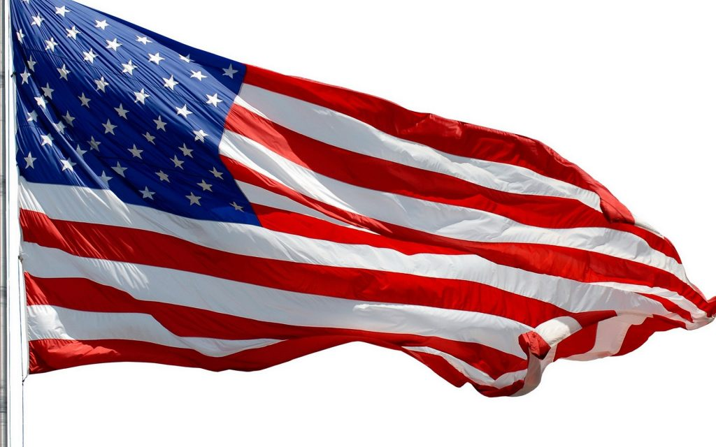 Backgrounds_USA_flag_on_a_white_background_103387_